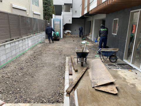 新宿区中落合 マンション内舗装工事