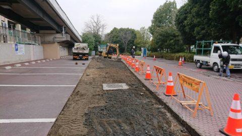 江戸川臨海球技場内駐車場舗装工事