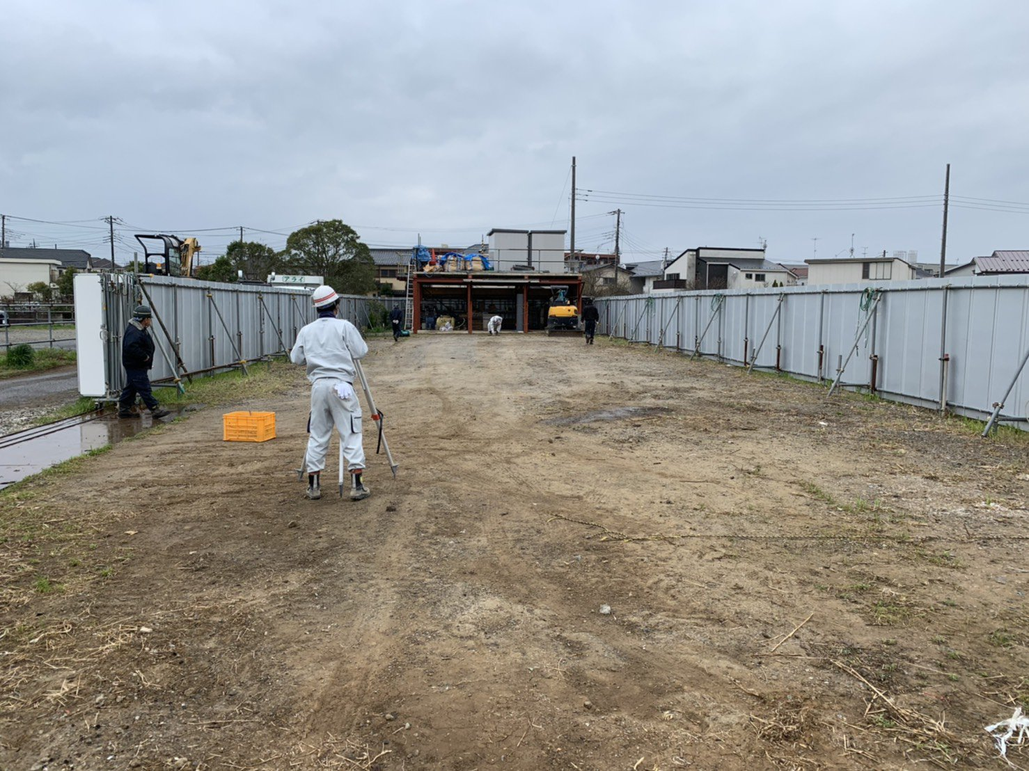 建設会社の置き場舗装工事 (市川市)
