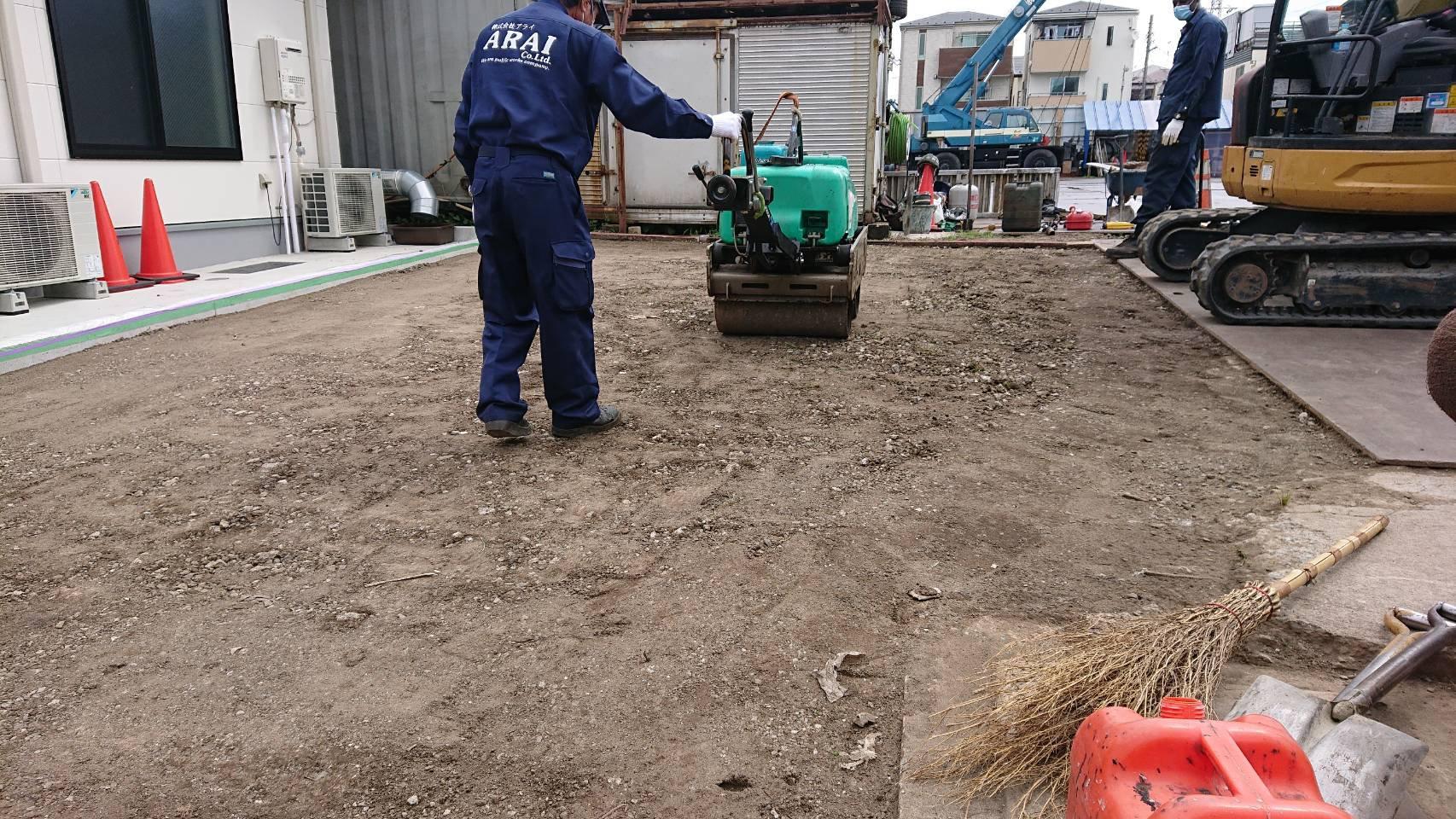 江戸川区瑞江 駐車場舗装工事(その2)