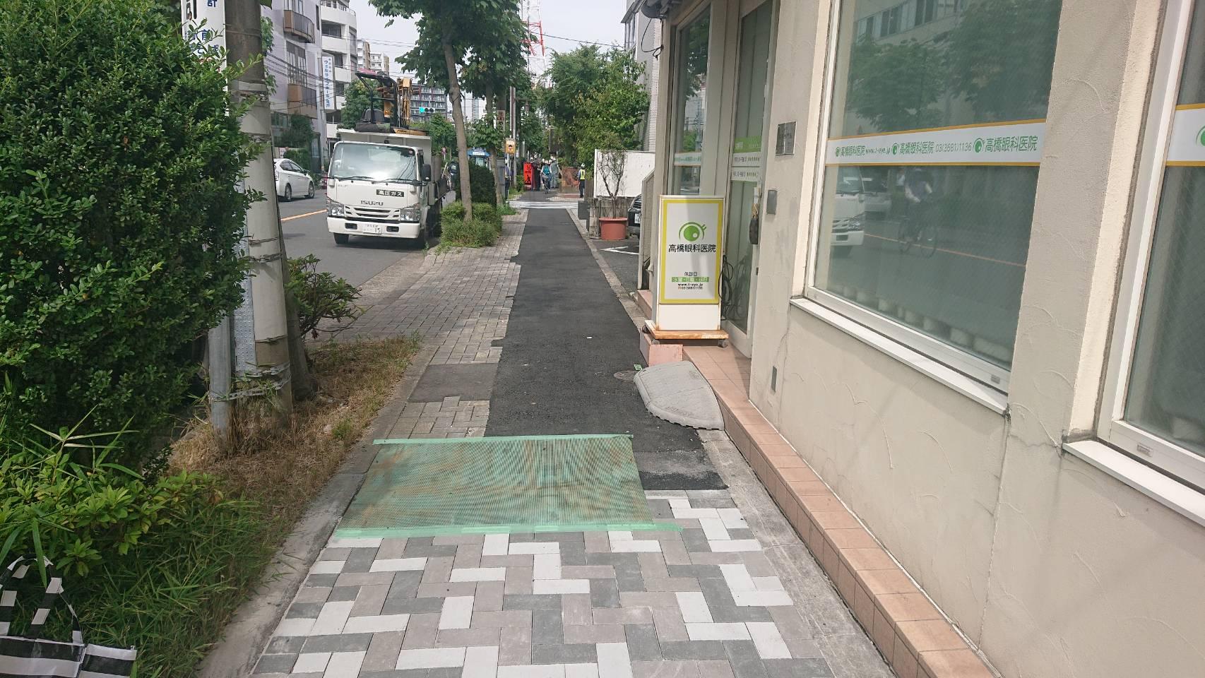 亀戸 歩道インター工事