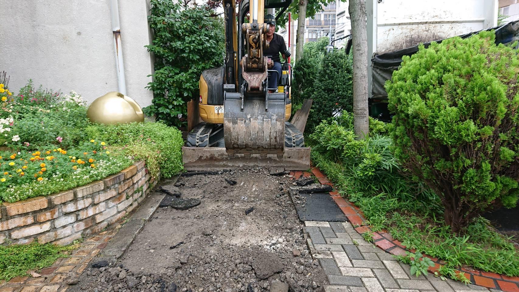 亀戸 歩道インター施工及び車道舗装(巻き込み部)