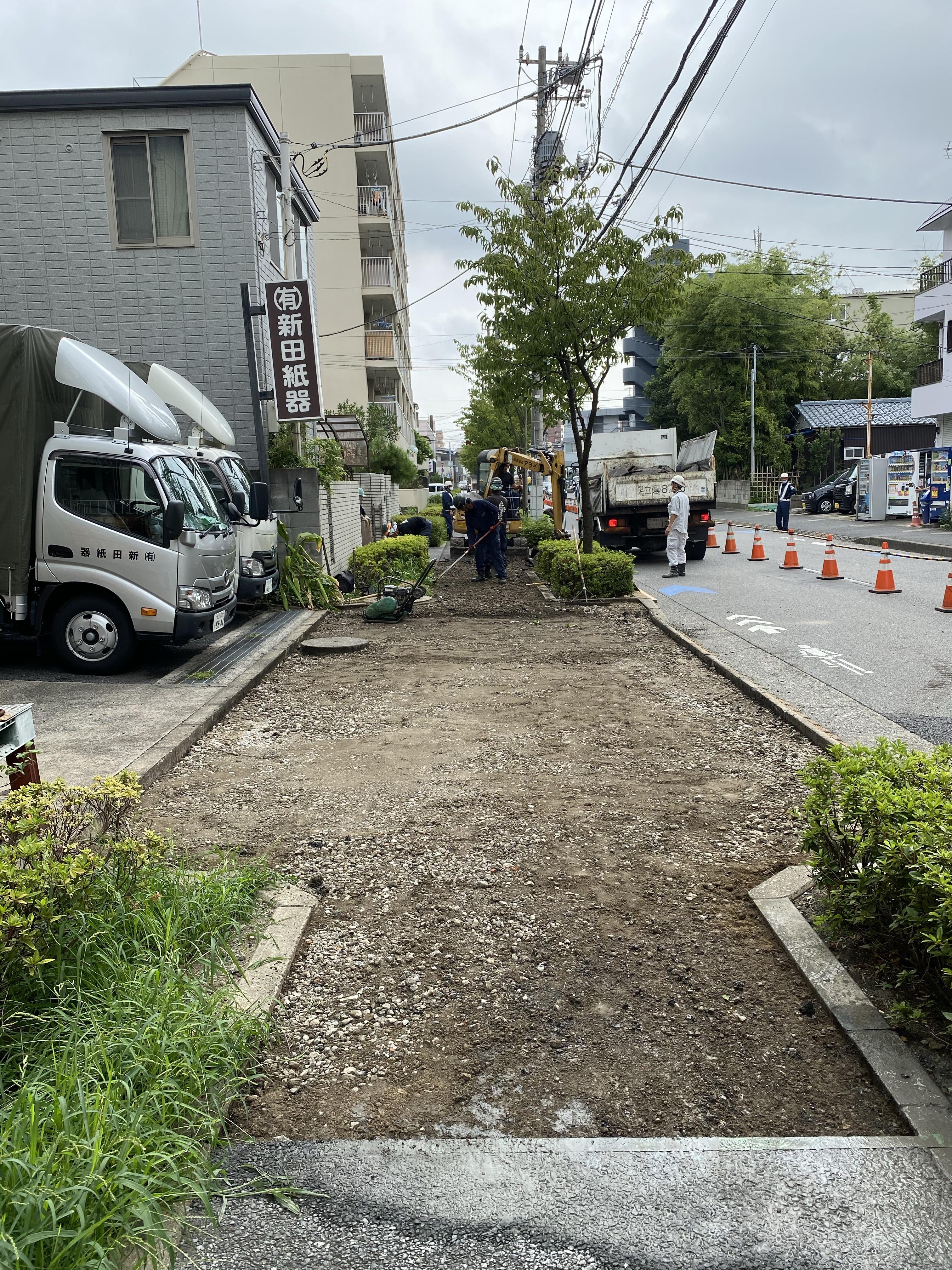 江戸川区中葛西  歩道舗装工事
