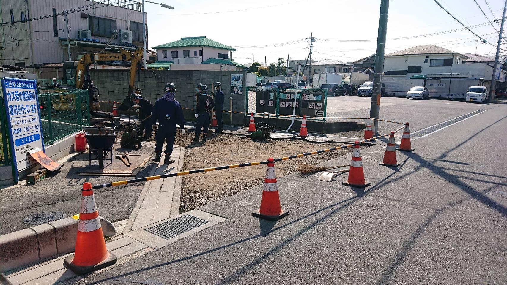 埼玉県草加市内 車道打換え工事(3日目)