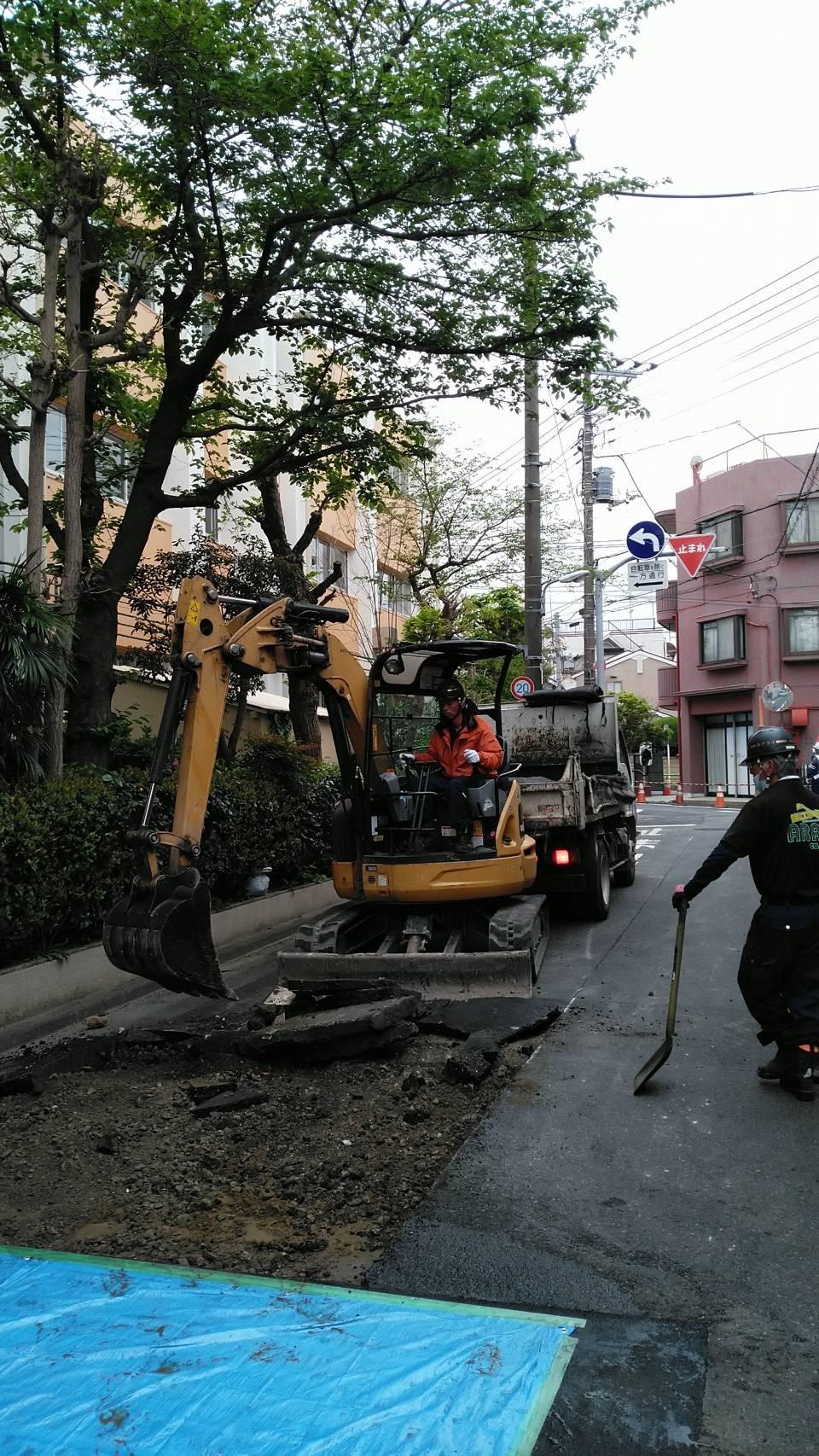 大田区内 舗装打換工事(2日目)