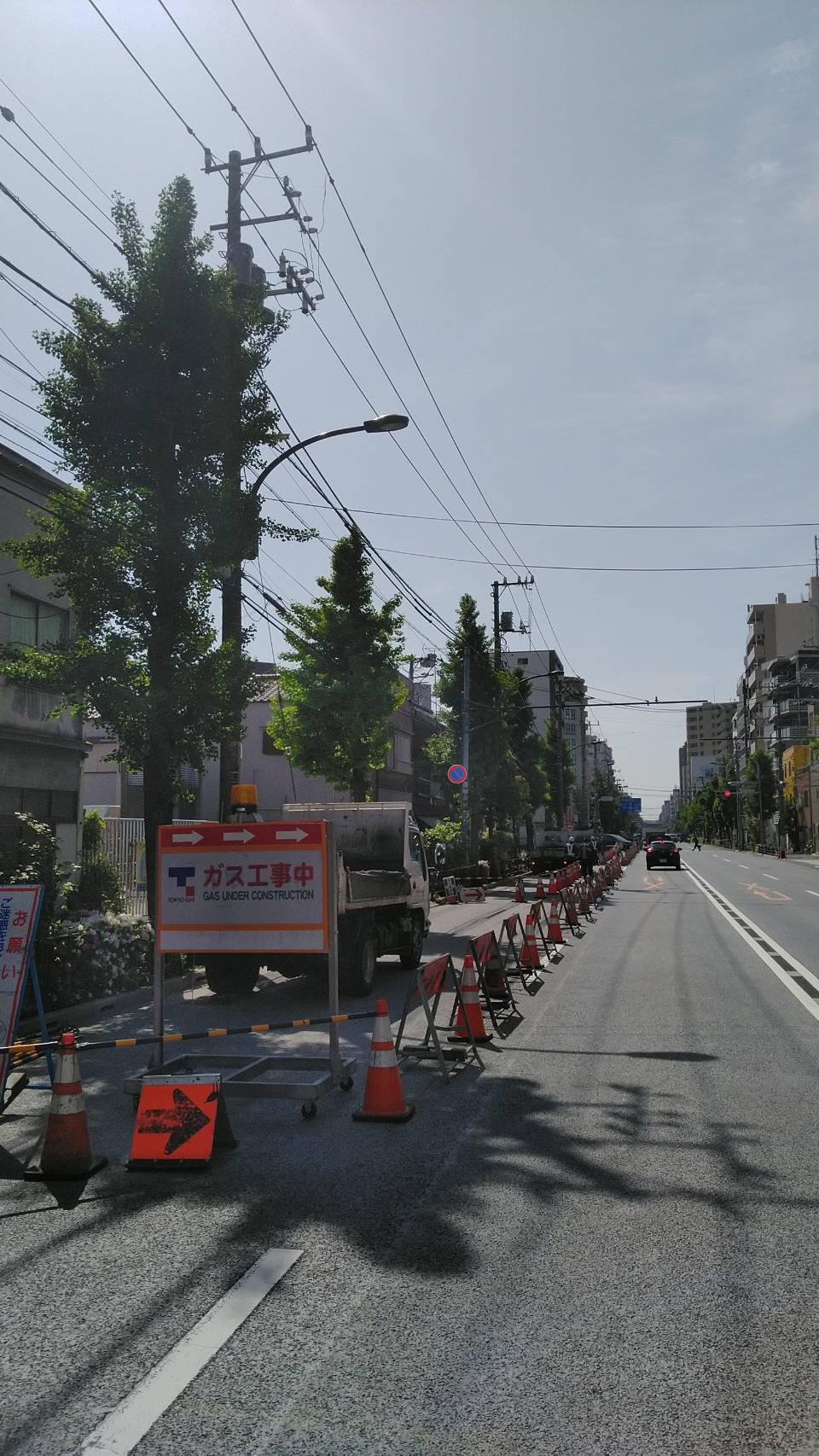 向島 歩道舗装工事(最終日)