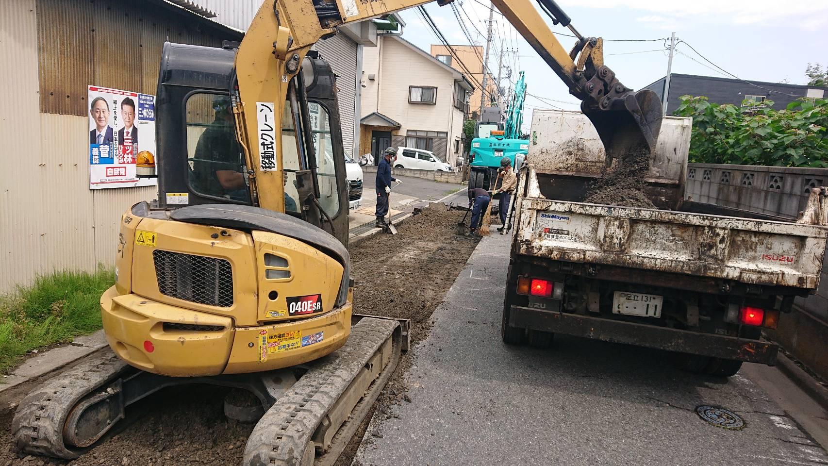 埼玉県八潮市内 車道打換舗装工事👷♂️(2日目)