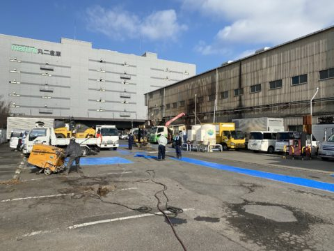 市川市内駐車場内舗装補修工事
