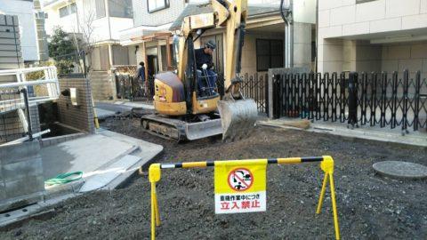 練馬区内 水道舗装復旧工事