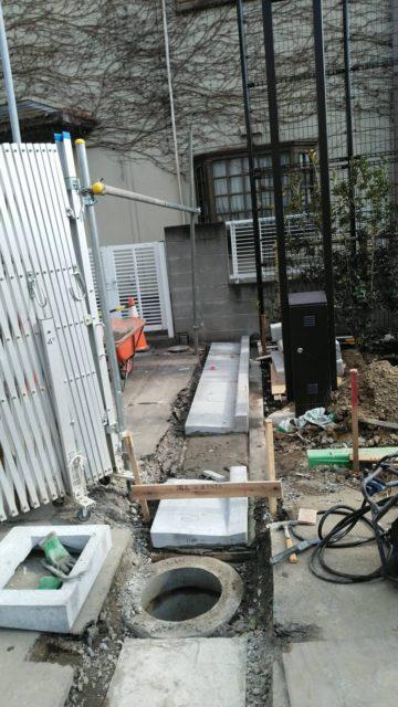 江戸川区小岩 L型溝及び舗装工事