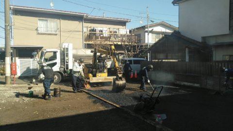 杉並区 防塵舗装工事