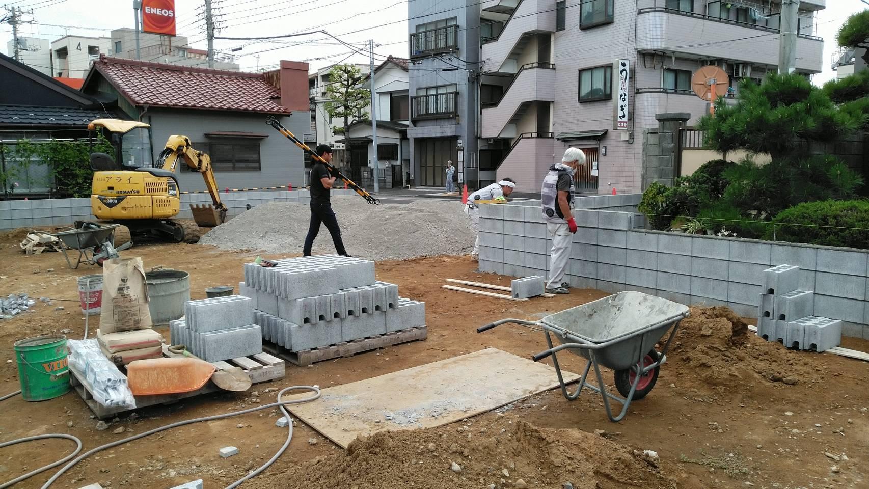 江戸川区篠崎 駐車場舗装工事