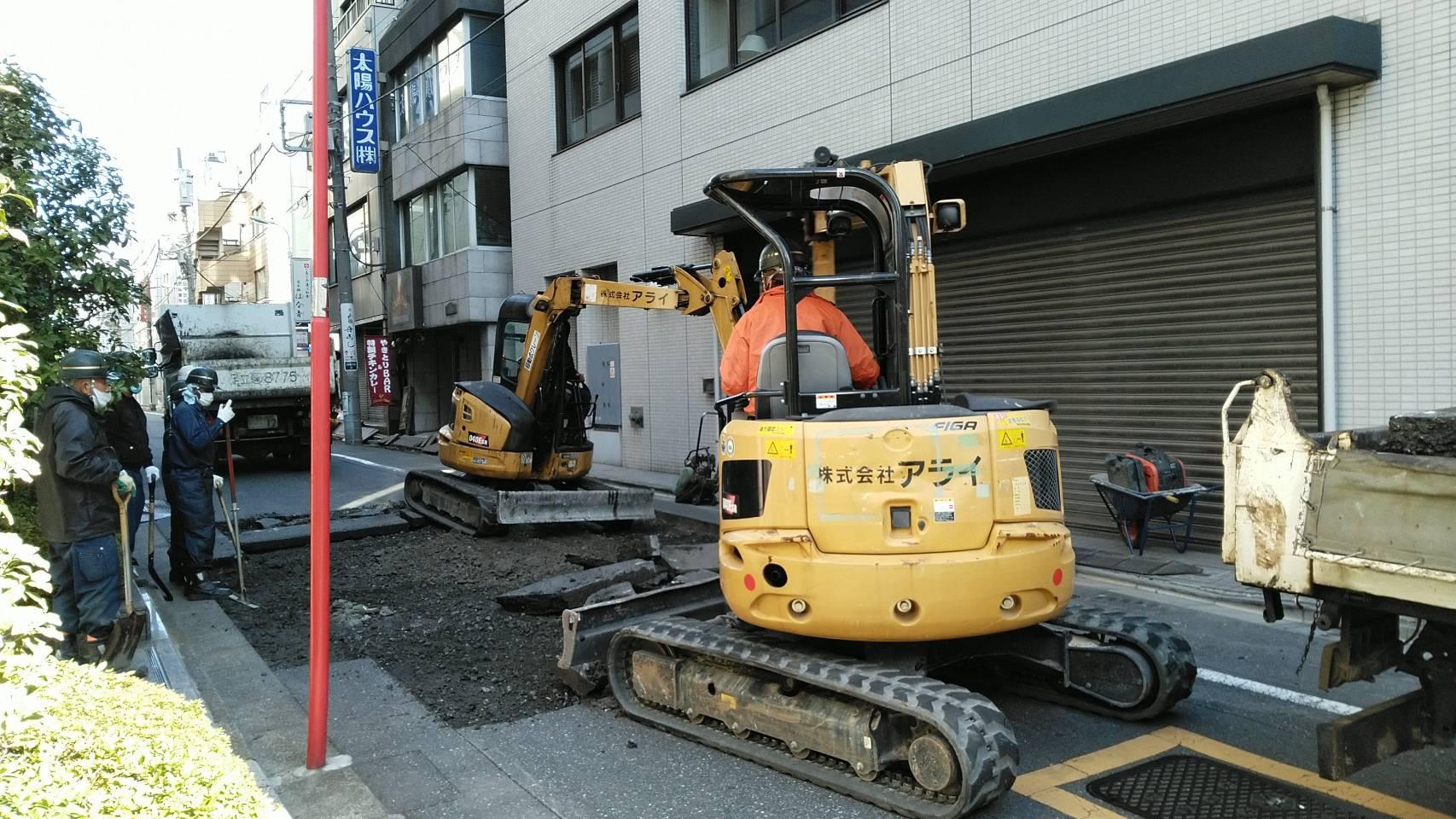 中央区銀座内 車道舗装打換え工事