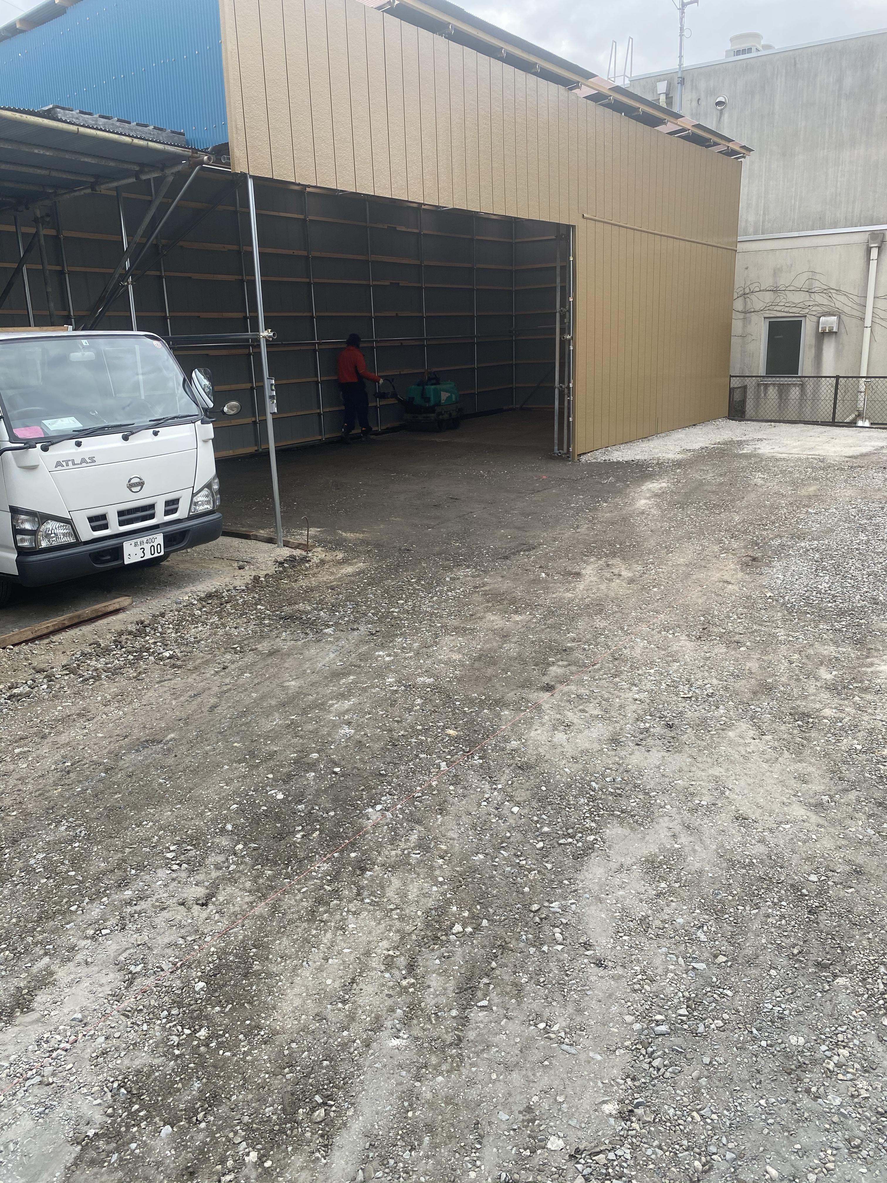 葛飾区水元 駐車場舗装工事