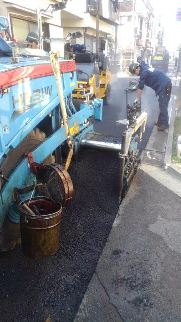 江戸川区内舗装打換工事