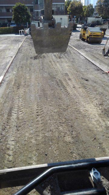 江戸川区南篠崎 駐車場舗装工事