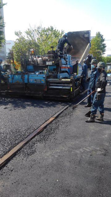 大黒ふ頭 工場内舗装打換え舗装工事