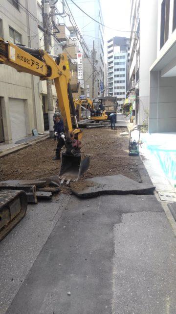 中央区日本橋 舗装打換え工場