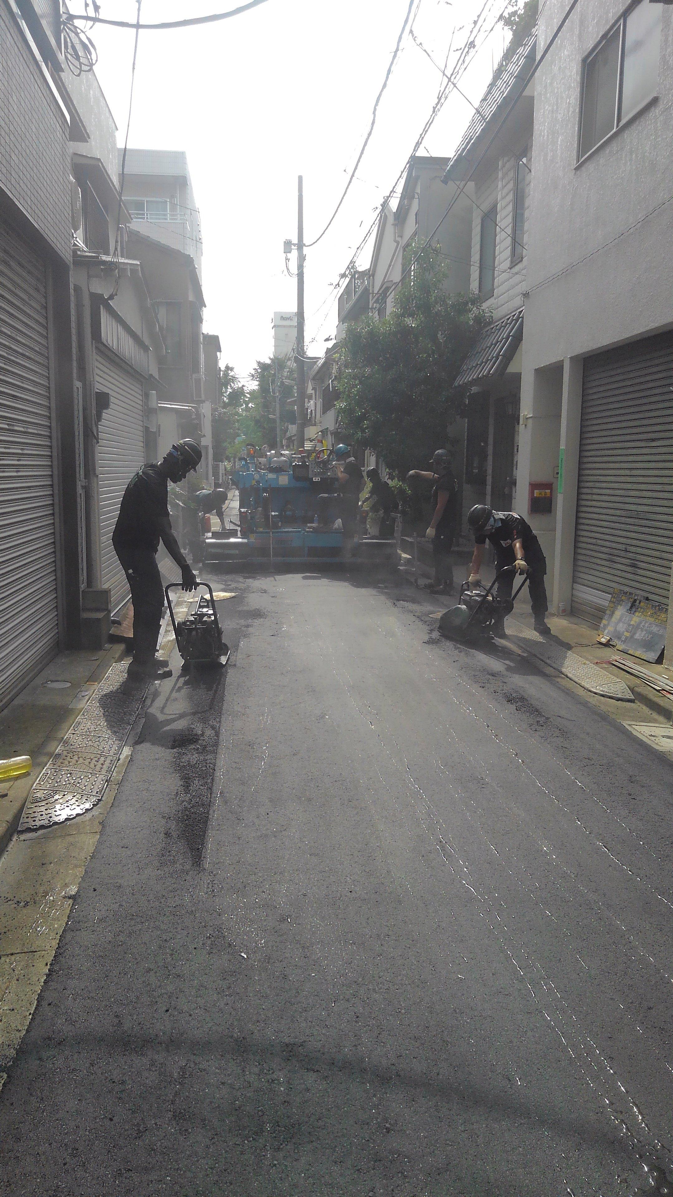 江東区内 車道舗装工事