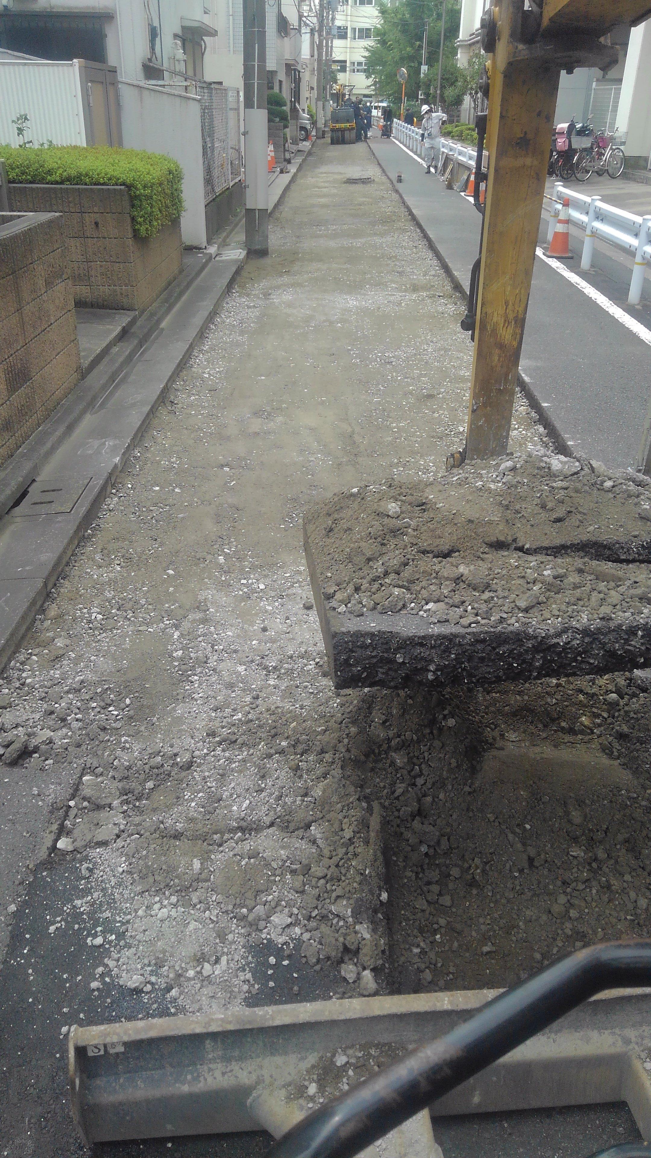 車道舗装工事(江東区)