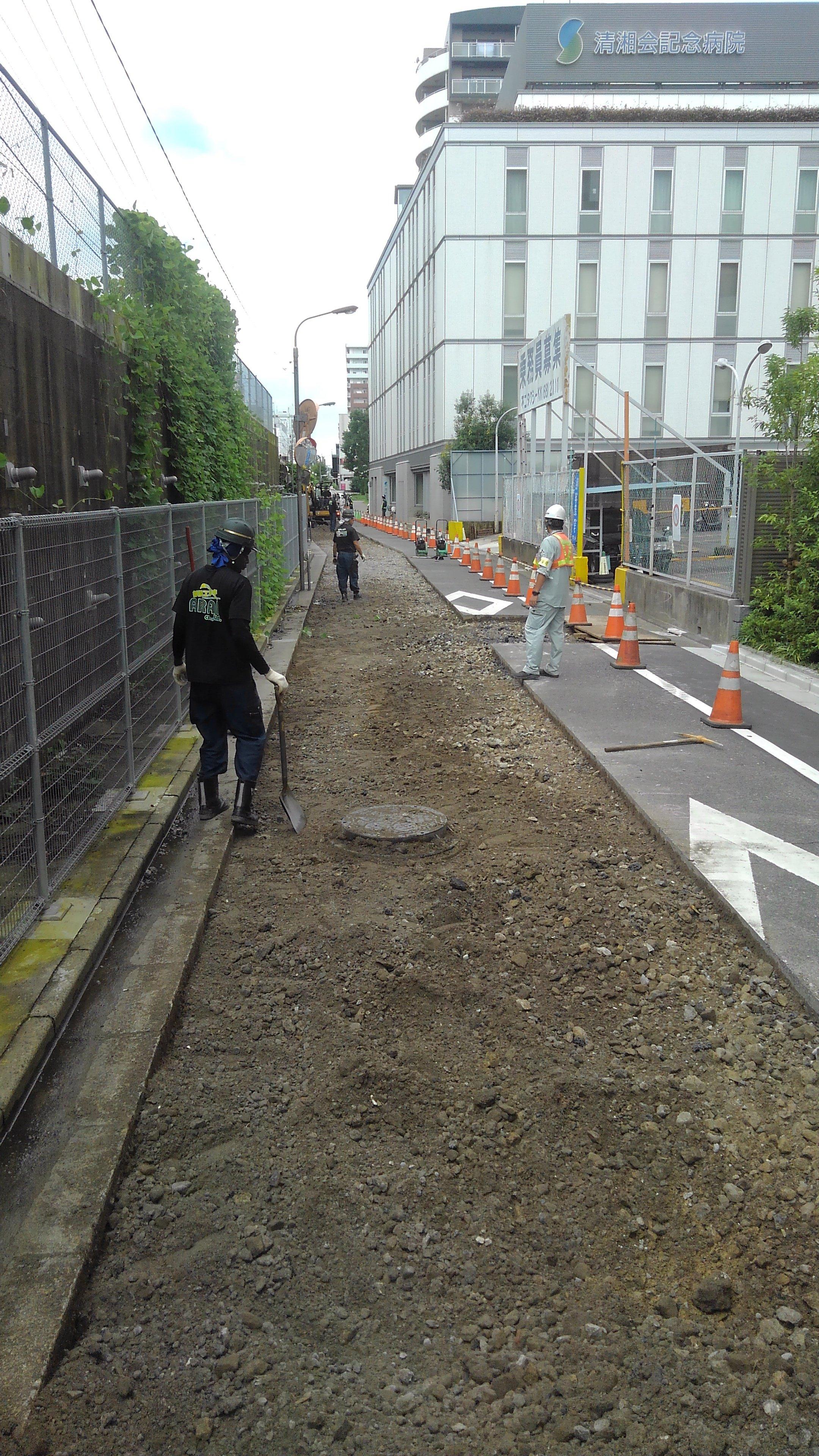 亀戸 車道舗装工事