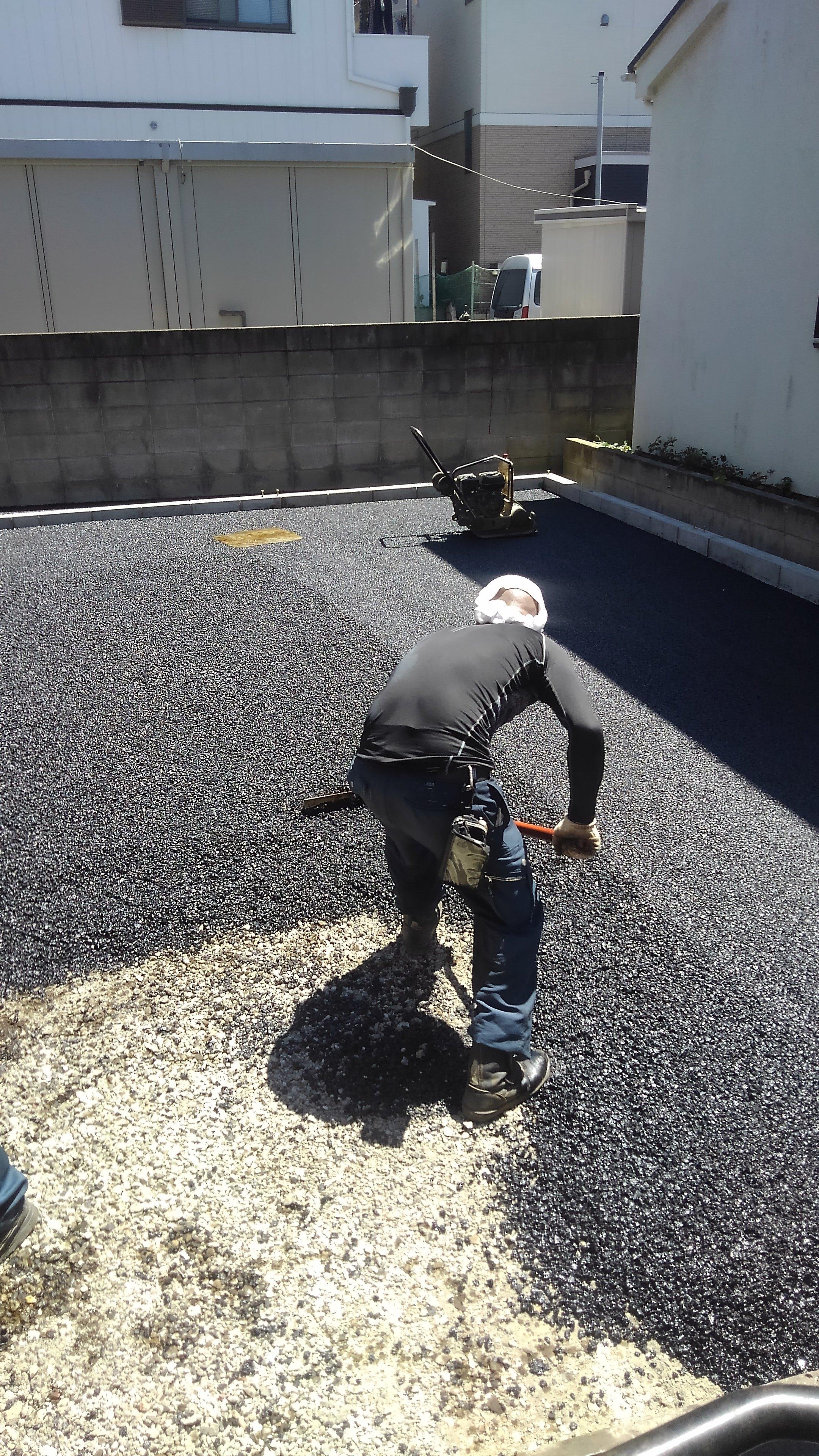 葛飾区新小岩駐車場舗装工事