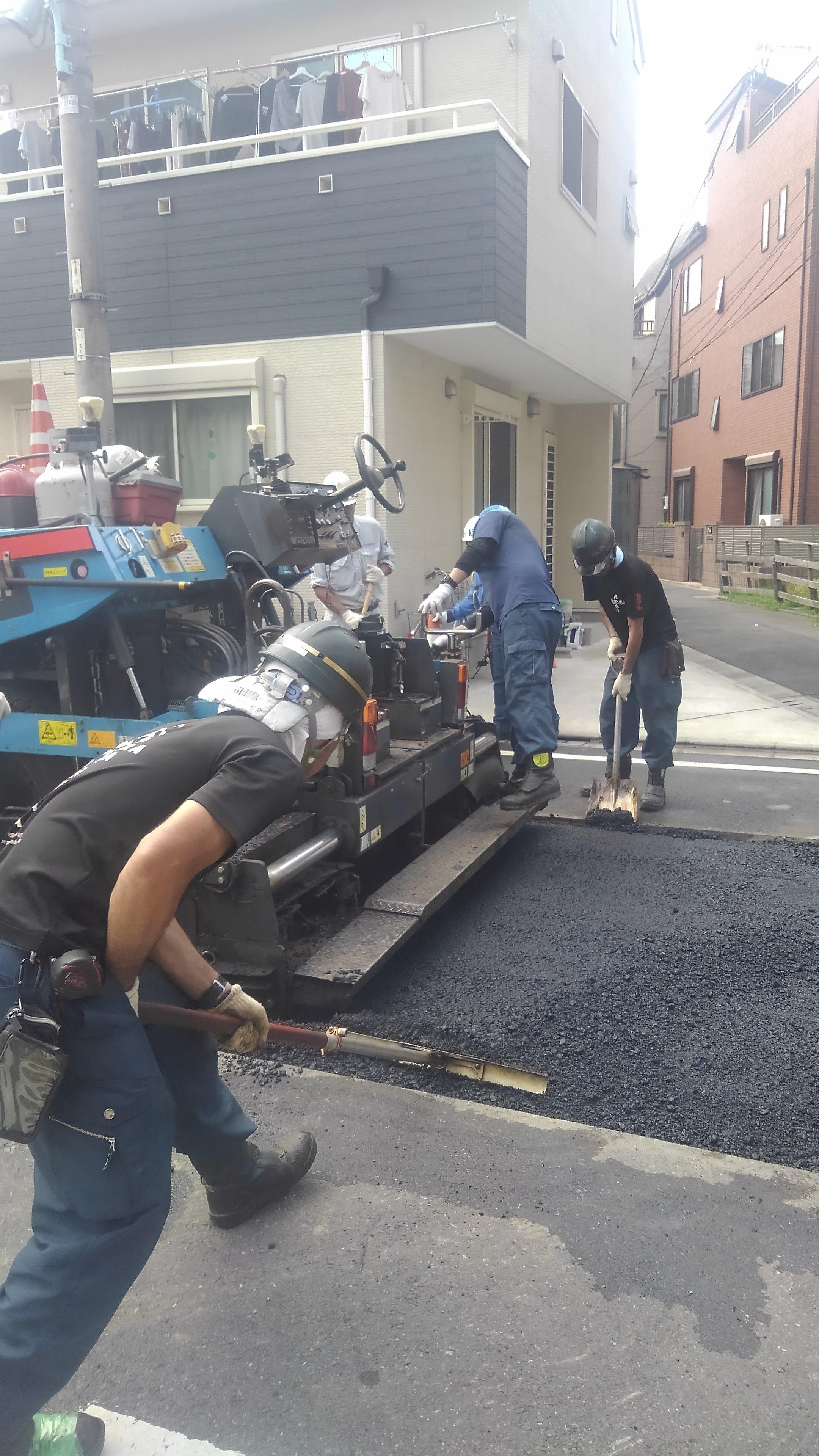 葛飾区東四つ木 車道舗装工事